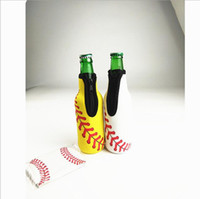 100pcs Baseball Printed Can Holder Soft Neoprene 330ML Beer ...