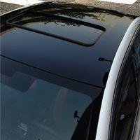 3 lager hög glansig svart vinylfilm glans bil wrap folie rulle för bil takförpackning täcker luft bubblor gratis