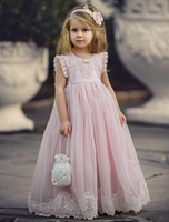 2019 Blush Pink Flower Girl Dresses Special Occasion For Wed...