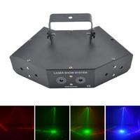 AUCD 6 teste 7CH DMX Rosso verde blu RGB Full Color Beam 16 modelli Laser Light Home Party DJ Stage Lighting Z6F16