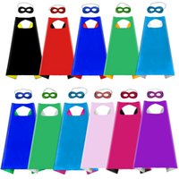 Plain Colour Double Head e Mask con 2 colori diversi 70 * 70cm Capes for Kids Party Christmas Halloween Cosplay Stage Performance