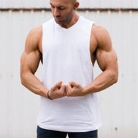 e143dc5f40e0 New Arrival. New solid Bodybuilding Stringer Tank Tops Mens Cotton  Sportwear Tanktops vest Fitness Men gyms Clothing sleeveless ...