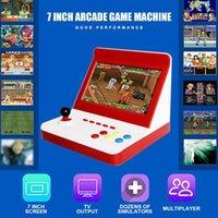 미니 레트로 아케이드 핸드 헬드 게임 콘솔 7 인치 대형 스크린 비디오 게임 아케이드 게임을위한 클래식 가족 홈 게임 기계