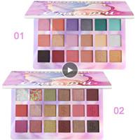 Plus récent CmaaDu EYESHADOW palette maquillage 18 couleurs chatoyante de pigments Matte Eye Shadow Glitter Fond de teint poudre Primer