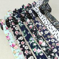 Erkekler Slim İçin Çiçek bağları Moda Pamuk Baskı Kravat vestidos İğne Kravatlar Kravat Parti Kravatlar Vintage Baskılı Gravatas Bırak Gemi Takımları