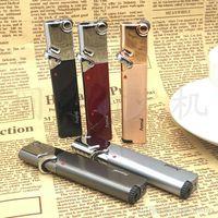 Neue Ankunft Taschenlampe Turbo Feuerzeug 2018 Neue Compact Jet Feuerzeug Gas Strip Windproof Metall Zigarre 1300 C Butanfeuerzeug