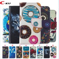 Cartoon cat eule brieftasche ledertasche für iphone xr xs max x 8 7 6 6 s plus 5 5 s se huawei p8 lite 2017 p10 p20 lite kuchen rose blume abdeckung