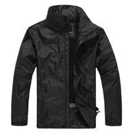 Мода-горячая открытая весна осенью осенью и мужчины водонепроницаемые однослойные комбинезон пальто ветровая рука куртка бесплатная доставка