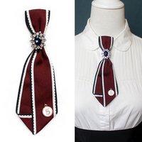 Halsbanden High-End Handgemaakte Rhinestone Bowtie Dames College Stijl Nummer 5 Bow White Shirt Bank El stropdas kledingaccessoires