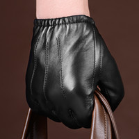 Fashion-HOT neue Männer Polizei taktische Lederhandschuhe schwarz Tops Größe M / L / XL Best-Preis K144