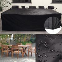 PVC impermeável Garden Outdoor Patio Furniture Capa de proteção Chuva Neve Proof Mesa Chair Sofa Set Covers Household Acessórios
