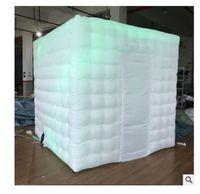 2020 الساخن بيع الهواء العفن للهواء مملوءة بوث كشك نفخ فضة فضية الإضاءة استوديو الصمام ضوء نفخ صور بوث خيمة