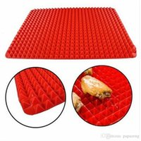 Home Use Red Pyramid Nonstick Silicone Oven Baking Tray Baki...
