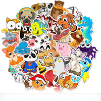 50pcs / Set Cartoon Animal Crossing Graffiti Krake Penguin Aufkleber wasserdichter PVC Laptop Gitarre Skateboard Gepäck nette Aufkleber Kinder Spielzeug