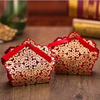 Borse per cioccolatini in caramelle cablatte a taglio laser a matrimoni Baby Baby Shower Regali Borse Pacchetto