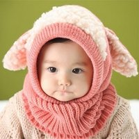 Winter Baby Kids Boy Girl lavorato a maglia all'uncinetto Crochet Ear Beanie Warm Hat Cap Soft