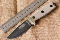 PSRK ver ESEE3 Rowen Outdoor kleine feste Klinge D2 Stahl G10 / Micarta Griff