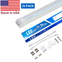 Intégration de V-formée T8 LED TUBE DE LED 2400mm Pieds de 8 pieds LED Lampe fluorescente de 8ft 4FT Tubes d'éclairage de la porte de refroidisseur