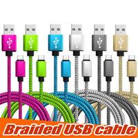 كبل USB مضفر نوع C الحبل 1M 2M 3M مزامنة البيانات كبل شحن USB عالي السرعة دائم للهاتف المحمول الروبوت دون حزمة