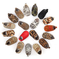 Genuine Leather Baby shoes Leopard print Baby Girls Soft sho...