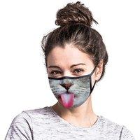Uomini Donne Donne Funny Face Mask Riutilizzabile Cartoon Print Designer Maschera antipolvere Maschera lavabile in lavaggio per mobili da equitazione