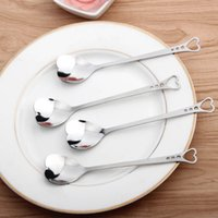 Stainless Steel Heart Shape Coffee Spoon1PCS Kitchen Accesso...