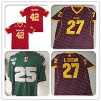 Herrenzentrale Michigan Chippewas 27 Antonio Brown College Football Jersey genäht Vintage Red 1997 Rose Bowl Pat Tillman Arizona State Trikots