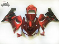 Free Custom motorcycle fairings kit for Kawasaki Ninja 2005 2006 ZX6R ZX636 ZX 6R 05 06 ZX-6R red aftermarket body fairing kits TV7