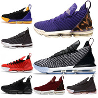 Classic 16s Men Basketball Shoes 16 King Court Purple Oreo F...