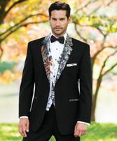 أسود التمويه الزفاف البدلات الرسمية نمط البريطانية مخصص كامو رجل دعوى يتأهل السترة الدعاوى الزفاف للرجال (بدلة + بانت + سترة) الدعاوى حفلة موسيقية