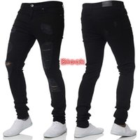 Mens Designer Jeans Fashion Mens Skinny Jeans Mens Tight Fitting Solid Color Males Worn Denim Pants