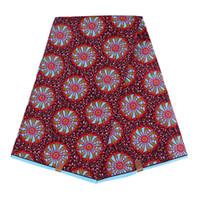 Nuovo arriva il poliestere Cera Stampe tessuto Ankara Binta cera reale di alta qualità 6 yarde / lotto Tessuto africano per il vestito da partito FP6007
