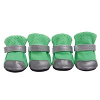 Zapatos resistentes Animales Zapatos Botas de agua reflectantes para perros correas de sujeción para mascotas calza botas 7 colores 5 tamaños