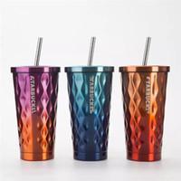 2019 حار ملون اللون تصميم جديد ستاربكس الفولاذ المقاوم للصدأ شفط كأس آلهة العزل كأس القهوة الإبداعية