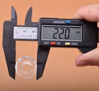 OD 22mm 25mm Quarzschale 100% Echt Quarz Ersatz Quarz-Teller-Schüssel für Domeless Titannagel Bohrinsel Bongs