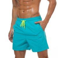 Mäns Shorts Mens Sommar Casual Män Fit Solid 18 Färg Tillgänglig Lös elastisk Midja Andningsbar Beach Short Homme