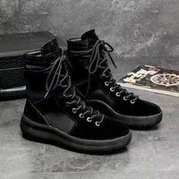 Sıcak Satış-Marka yüksek çizmeler Tanrı Üst Askeri Sneakers Hight Ordusu İyi Kalite Korku Çizme Erkekler ve Kadınlar Moda Ayakkabı Martin Boots 38-45 y0