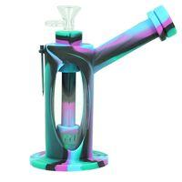 7 '' DAB RIG BUITY GLAS BONG WASSER PIFE Dicke Glasröhrchen Raucher Rohr Silikon Huka Shisha Becher mit DAB-Werkzeug