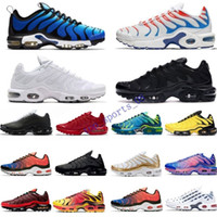 TN Plus SE Deisgner zapatos para correr para hombre blancas negro Hyper psíquico azul de lujo de entrenadores deportivos de moda Gafas 3D transpirable zapatillas de deporte