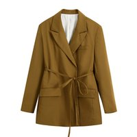 여성용 정장 블레이저 사무실 레이디 블레이저 여성 긴 소매 대형 자켓 2021 가을 캐주얼 스트리트웨어 여성 솔리드 코트