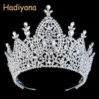 Hadiyana Neue Luxus-Tiara Brautkrone für Frauen 2019 Hochzeit Haarschmuck Königs Zirkonia Kaiserkronen Schmuck BC3200 CJ191226