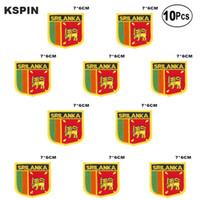 Sri Lanka Flagge Aufnäher Eisen auf Saw on Transfer patches Nähen Anwendungen für Bekleidung in HomeGarden 10Pcs