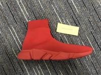 남성 속도 중간 탑 트레이너 양말 스니커즈 부츠 여성 슬립 온 탄성 천으로 스피드 트레이너 러너 야외 캐주얼 아파트 신발 35-45