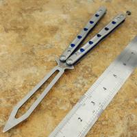 فراشة Flytanium BM51 V6 D2 شفرة التيتانيوم التدريب مقبض مدرب يست حادة جمع هجر أو نبذ الحبيب سكين للطي سكين هدية عيد الميلاد