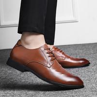 أحذية اللباس الرسمي الرجال أكسفورد جلد طبيعي الرجال اللباس أحذية الأعمال أحذية الرجال أكسفورد الجلود zapatos دي hombre 2019 جديد