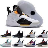 2019 أحذية كرة السلة للرجال XXXIII PF 33 Future of Flight عالية الجودة 33 Tech Pack 33s Black Dark Smoke Grey Sail sneakers