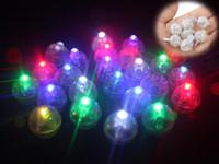 LED Balloon Luz Mini forma redonda de incandescência aniversário da lanterna de papel Luz de Natal de casamento Decoração Bar Party Supplies Atacado