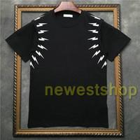 2020 여름 핫 패션 T 셔츠 남성 짧은 소매 화이트 기하학 프린트 T 셔츠 고품질의 디자이너 t 셔츠 면화 티 꼭대기에 오른다