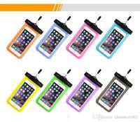 Natação bolsa caso capa para a Universal Cell Phone Cases impermeável Proof Caso Água Saco braçadeira todos os celulares Telefone 10 cores