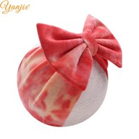2020 New Summer 5' ' Big Bows Fashion Tie Die Velve...